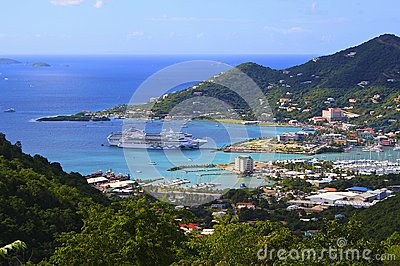 Cruise ship in Roadtown, Tortola