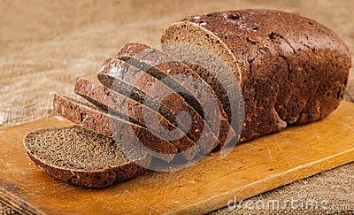 Sliced loaf brown bread