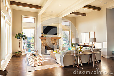 Living Room in New Luxury Home