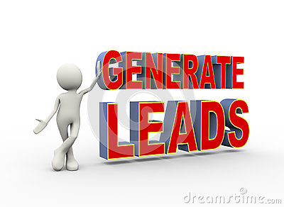 3d man with generate leads