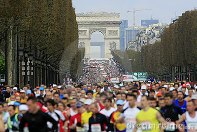 Marathon de Paris-Start