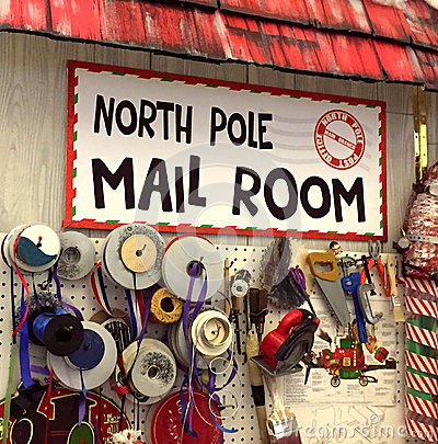 North Pole post office mail room