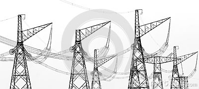 Contours of high voltage electric towers