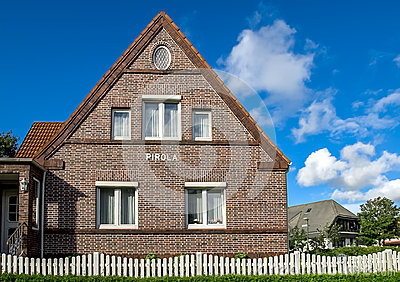 Brick single family house home, Germany