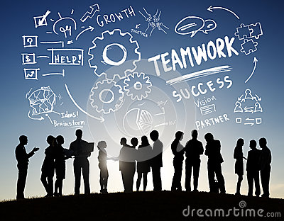 Teamwork Team Together Collaboration Business Communication Outdoors Concept