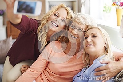 Selfie with mom and grandma