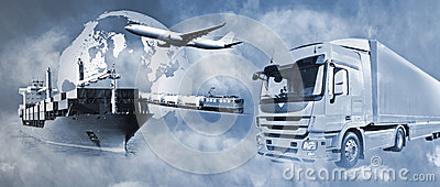 stock image of transport logistics