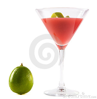 Cosmopolitan Cocktail with Lime