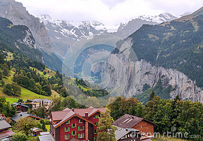 Wengen in the swiss Alps