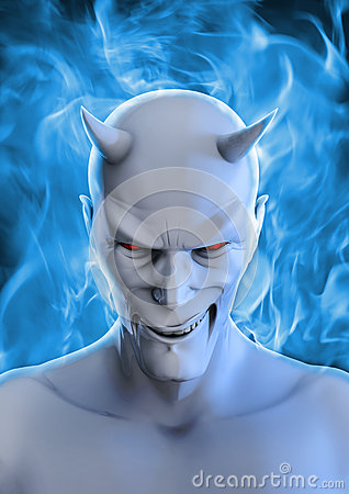stock image of white devil