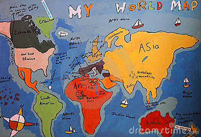 Child S Drawing Of Map Of The World