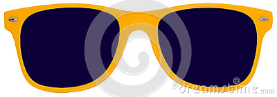 Yellow Sunglasses, Shades, Isolated on White