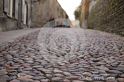 Cobblestone road in Old Tallinn