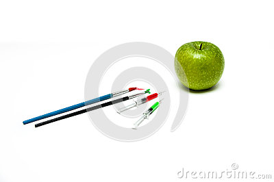 Unnatural injected apple