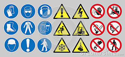 Work safety signs