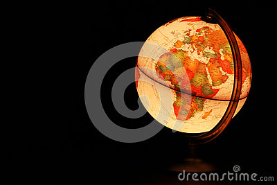 Planet Earth glowing globe