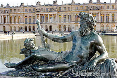 Sculptures of the garden of the Palace of Versailles