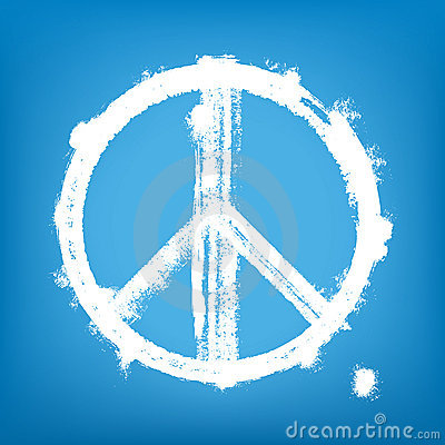 Grunge peace sign