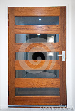 Modern House - Wooden Front Door
