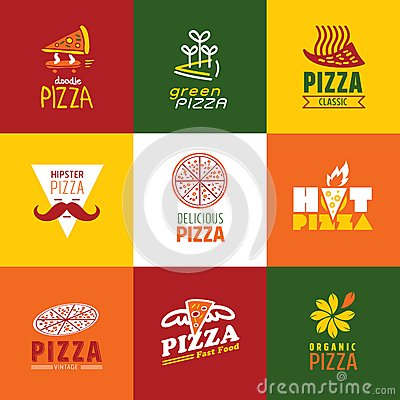 Set Of Fast Food Restaurant Signs