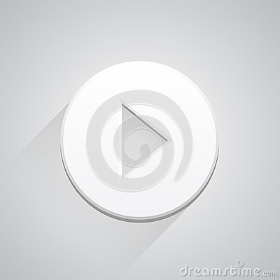 Play icon button on white background