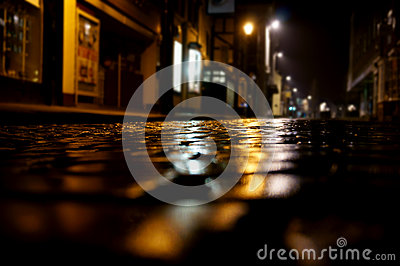 Cobbled street night B