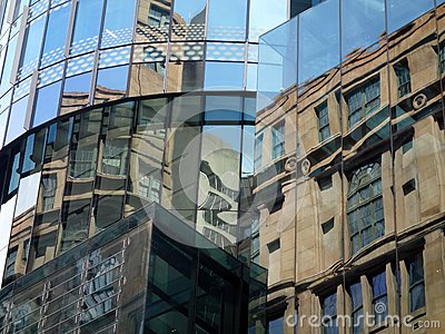Building Reflections in Glass Windows