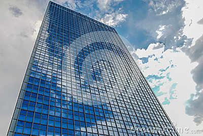Office Building in Berlin Germany with Reflections in Glass Facade