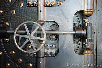 Vintage Bank Vault Safe Industrial Background