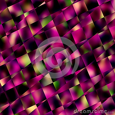 Abstract Purple Square Mosaic Background. Geometric Patterns and Backgrounds. Diagonal Lines Pattern. Blocks Tiles or Squares.