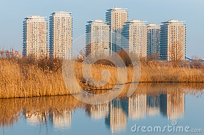Buildings in the suburbs of Bucharest