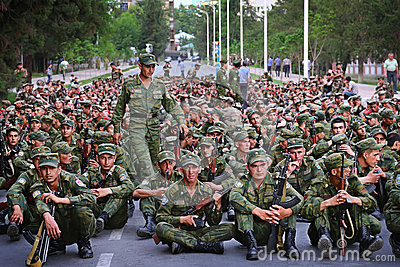 Tajikistan: Military parade in Dushanbe