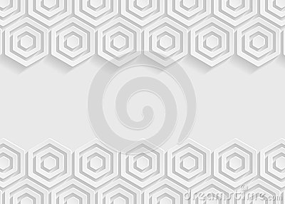 White hexagon paper abstract background for website, banner, business card, invitation, postcard