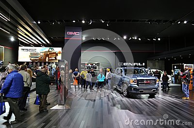 GMC at the auto show