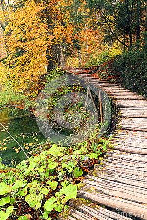 Autumn colors in Plitvice National Park