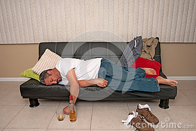 Man passed out drunk