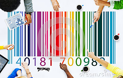 Bar Code Price Tag Merchandise Concept