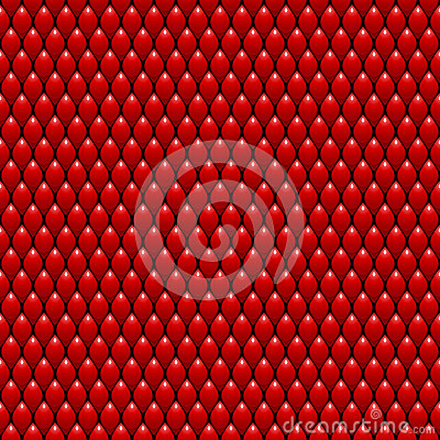 Red Dragon Scales Seamless Pattern Texture. Stock