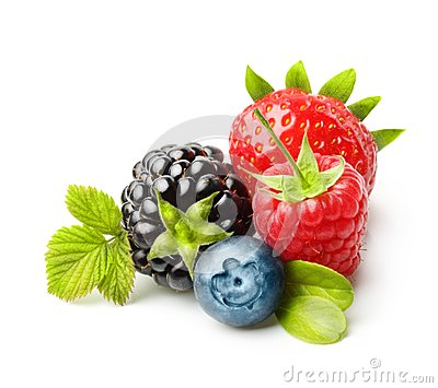 Summer berry fruits isolated
