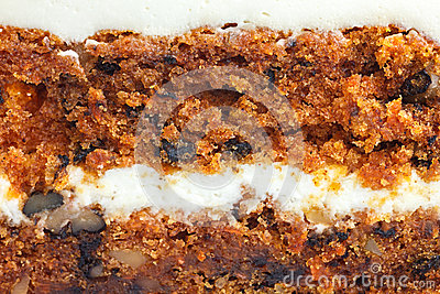 Abstract detail of carrot cake with frosting