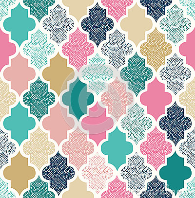 Seamless abstract dots pattern