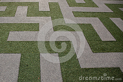 Grass Maze View from Top View