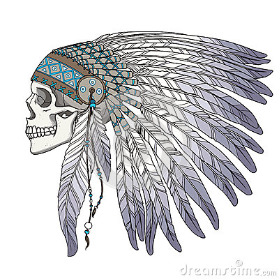 2b6fcd71a3ad9 Native American Indian chief skull