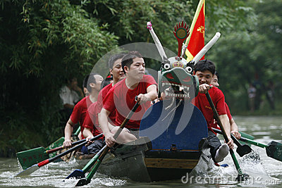 Dragon boat race in China