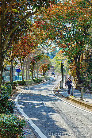 The Road to Kitano District in KObe, JApan
