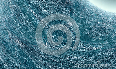 Agitated Ocean Wave