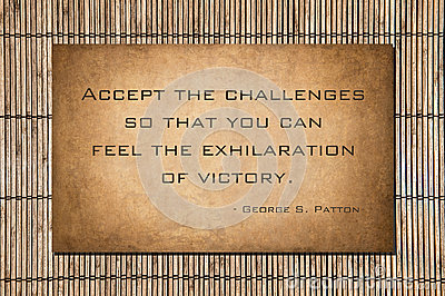 Accept the challenges.