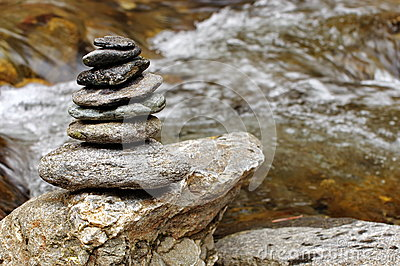 Feng shui. Zen rocks and water