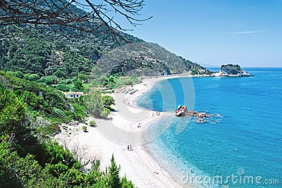 Beautiful beach Potami