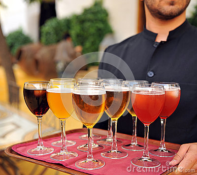 Cold beer and soft drinks, bartender, catering service